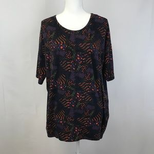 WOMEN'S SIZE S LULAROE PATTERN SHORT SLEEVE TUNIC